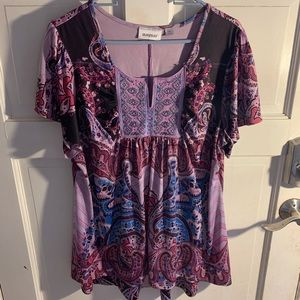 Purple Blouse with Design